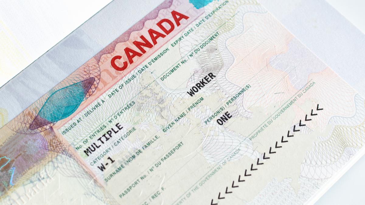Canada visa in passport   real or fake